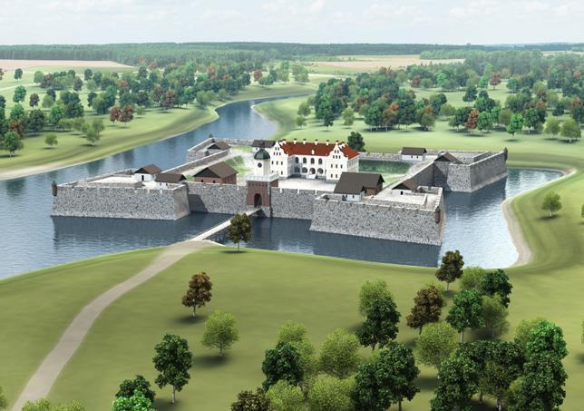 Ляховичский замок-крепость. Трехмерная модель, созданная на основе сохранившихся планов и описаний